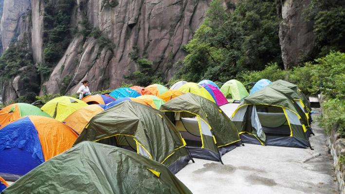 大三清酒店帐篷300元/双人帐/十一,提供24小时热水洗澡,炒菜,经济舒适,安全!
