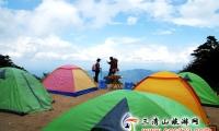 三清山杜鹃林帐篷,280元/三人帐/节日,露营地点:杜鹃林(杜鹃山庄),提供热水洗澡,看日出超近,超酷超爽的体验。
