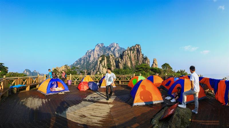 三清山玉台帐篷/山上最佳位置,120元/双人或单人帐/不分周末/不含发票,供热水洗澡离玉台零距离看日出