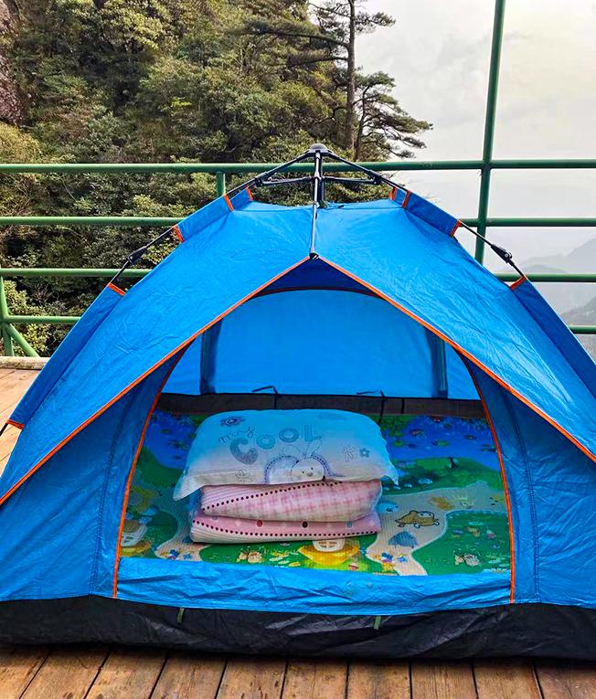 三清山玉皇顶帐篷/山上最佳位置,120元/双人帐/不分周末/不含发票,供热水洗澡离玉台零距离看日出